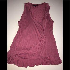 Bana republic Ruffle tank top blouse shirt s